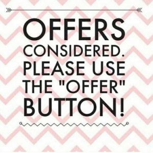 All reasonable offers accepted!